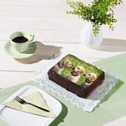 Torte mit essbarem Foto