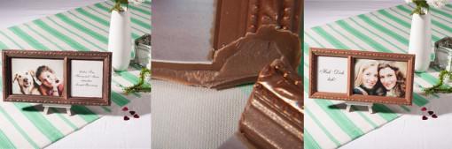Bilderrahmen aus Schokolade, essbar